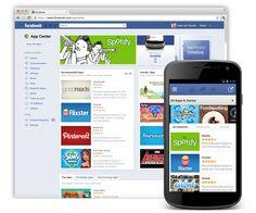 new facebook app center