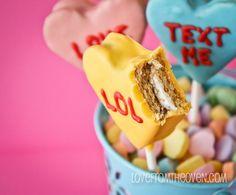 treats, smore pop, valentine day, heart smore, holiday baking, oreos, people, ovens, convers heart