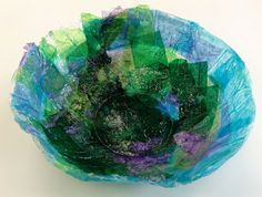 Panther's Palette: Life Skills: Tissue Paper Bowls