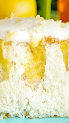 Honey Lemon Poke Cake