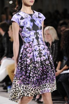 love this #floral #leopard print hybrid... Temperley London Spring 2014 Collection