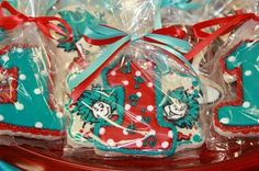 party favors, candy bags, birthday parties, cat in the hat cookie, birthday idea, 1st birthday, hat party, seuss cooki, dr seuss