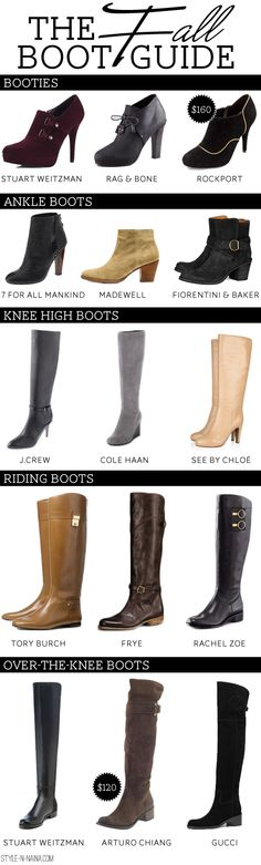 The Fall Boot Guide | STYLE'N