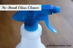 Make this No Streak Glass Cleaner yourself and save tons of money while ditching the chemical toxins in the store bought brands.