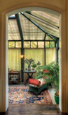 kitchens, breakfast rooms, houses, conservatori, house makeover, conservatory kitchen, garden, light, art nouveau