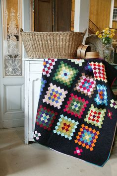 Midnight at the Plaza by Chris Hoover, included in Quilters Newsletter's Best Fat Quarter Quilts 2012