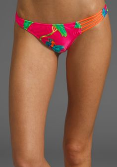 Naked Island Ruched Bottom in Parrot