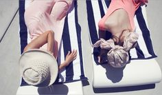 pool, palm springs, couture, towel, resort, beach, place, sun, stripe