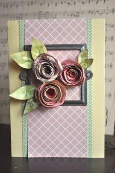 Card rose con tutorial video