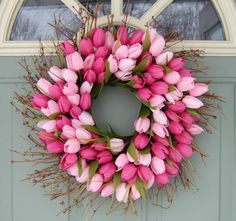 Spring Wreath Spring Tulip Wreath