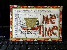 """""""Me Time"""" Fabric Postcard 