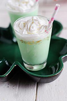 St. Patrick's Day Grasshopper Ice Cream Cocktails