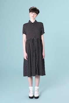 Shirt Dress in Polka Dot