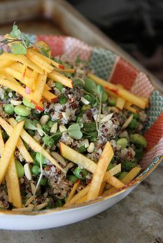 Quinoa Salad with Mint Nectarine, Edamame and Peas by Heather Christo, via Flickr