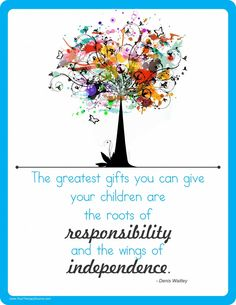 Teach children responsibility independence from www.YourTherapySource.com