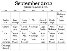 Since my August monthly workoutwas such a hit, I made another one for September! Like last time, the way it works is simple: look at what's listed for the current date, pick a workout from the categories below to match what's listed for the day, and do it! This allows you to alternate muscle groups, stay motivated, and try new workouts.  Other tips: eat healthy, drink more water, and increase the amount of cardio (even low-intensity cardio like walking) you do each week.  If you want