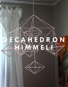 DIY Decahedron Himmeli Mobile