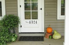 house numbers on the door