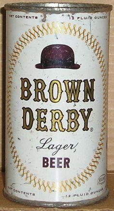 Brown Derby Beer, flat top can.