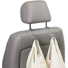Chrome Car Hooks. Perfect for the kids activity bag or a plastic trash bag.