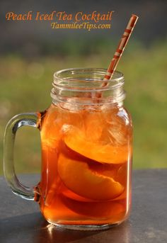 Peach Iced Tea Cocktail