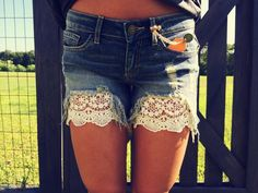 Take advantage of free shipping in the month of August! These lace shorts are the perfect find! Heliophiliaclothing.com