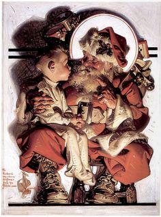 1923 ... Santa And Boy