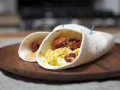 Breakfast Tacos from Stupidly Simple Snacks. Watch the video tutorial here: http://www.cookingchanneltv.com/shows/stupidly-simple-snacks/stupidly-simple-snacks-videos.html
