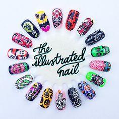 HALLOWEEN nails by theillustratednail.tumblr  #nails #nailart #halloween