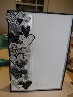 Layered Hearts - wedding card