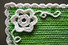 Use this edging for Flowers in the Snow crochet blanket