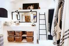 Inside a Home That Proves Neutrals Are Totally Chic// Eclectic, neutral bathroom design