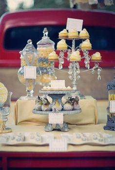 dessert table on a truck via Amy Atlas