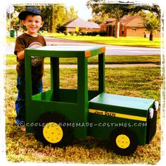 Coolest John Deere Tractor Costume for 4-Year Old Boy... 2014 Costume Contest