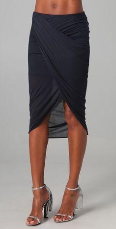 Helmut Lang draped skirts, fashion, cloth, style, drape skirt, knee length summer dresses, helmut lang, gorgeous skirt, beauti