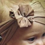 Ridiculously Easy Baby Headband tutorial - no sewing required