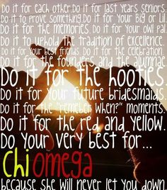 Do your very best for Chi Omega