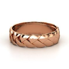 Braid Band, Men's Rose Gold Ring from Gemvara