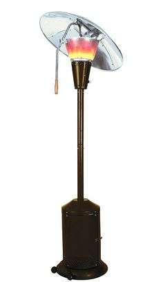 This patio heater has large cone-shaped burners to produce enough to heat up to 120 sq. ft., and the reflectors are adjustable to direct the heat where you need it the most. Enjoy your patio more days a year with this outdoor heater.