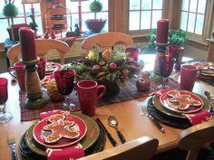 Christmas Table countri christma, christmas tables, cozi christma, christma tabl, christma decor, christma idea, christma magic, cozy christmas