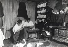 A family sewing in a tenement.