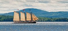 A peaceful day sailing along on Maine windjammer Victory Chimes.