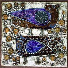 Lisa Larson ceramic tile