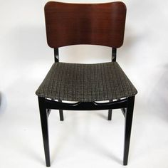 Vintage 1950s Beautility Dining Chairs, Ebonised, 4 in stock