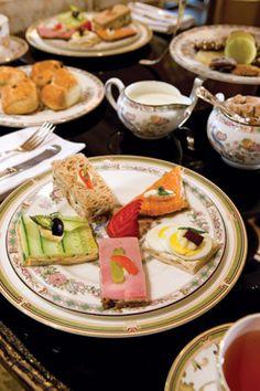 Lavish tea sandwiches at the Ritz-Carlton in Atlanta.