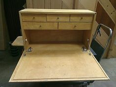 Wooden Craft / Model Makers / Workstation / desk / with tool storage draws
