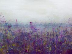 Abstract landscape art original acrylic painting.