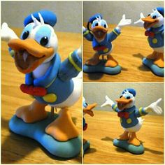 donald duck, charact cake, duck cake, fondant cakes, cake toppers