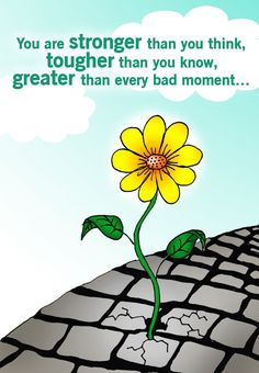 Free #Printable Stronger Than You Think Greeting Card http://www.greetingsisland.com/