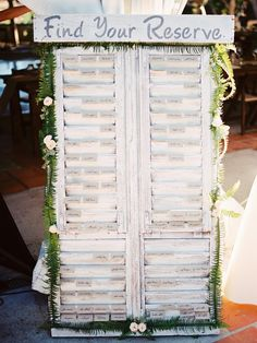 winery themed seating chart, photo by Shane and Lauren Photography http://ruffledblog.com/romantic-wedding-meets-winery-chic #escortcards #seatingchart